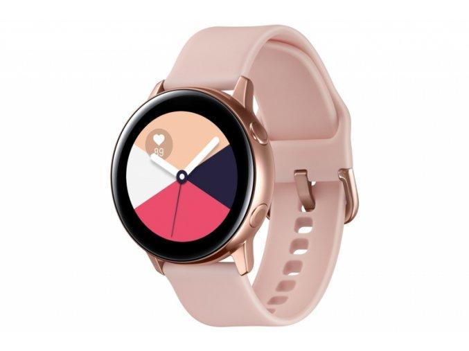 Chytré hodinky Samsung Galaxy Watch Active růžová/zlatá