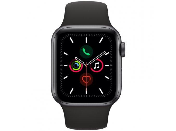Chytré hodinky Apple Watch Series 5 GPS 40mm pouzdro z vesmírně šedého hliníku - černý sportovní řemínek SK (MWV82VR/A)  appmwv82vra