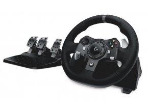 Volant Logitech G920 pro Xbox One, One X, One S, PC + pedály černý