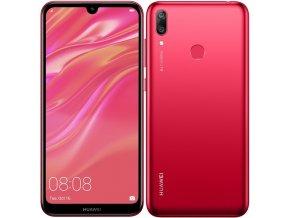 Mobilní telefon Huawei Y7 2019 Dual SIM červený  huaspy719dsrom