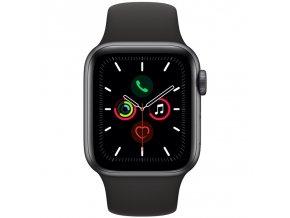 Chytré hodinky Apple Watch Series 5 GPS 40mm pouzdro z vesmírně šedého hliníku - černý sportovní řemínek  appmwv82hca
