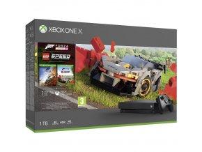 Herní konzole Microsoft Xbox One X 1 TB + Forza Horizon 4 + DLC LEGO Speed Champions  xbxcyv00468