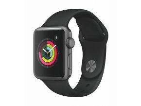Chytré hodinky Apple Watch Series 3 Watch Series 3 GPS 38mm pouzdro z vesmírně šedého hliníku - černý sportovní řemínek  appmtf02cna