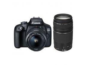 Digitální fotoaparát Canon EOS 4000D + 18-55 DC III + 75-300 DC černý  caneos4000d1855300