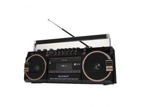 Radiomagnetofon Ricatech PR1980 Ghettoblaster černý  riapr1980