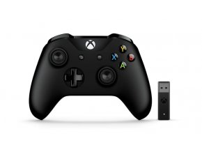 Gamepad Microsoft Xbox One Wireless + adapter - černý  xbx4n700002