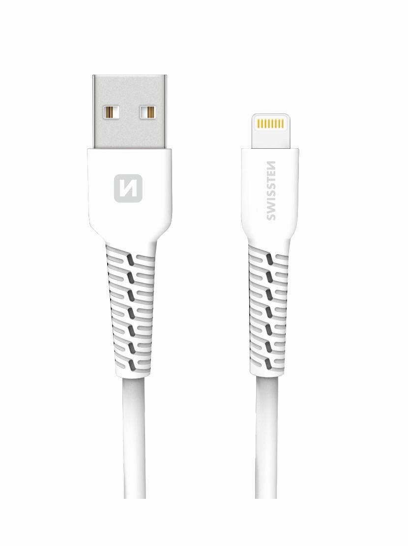 DATOVÝ KABEL SWISSTEN USB / LIGHTNING 1,0 M BÍLÝ