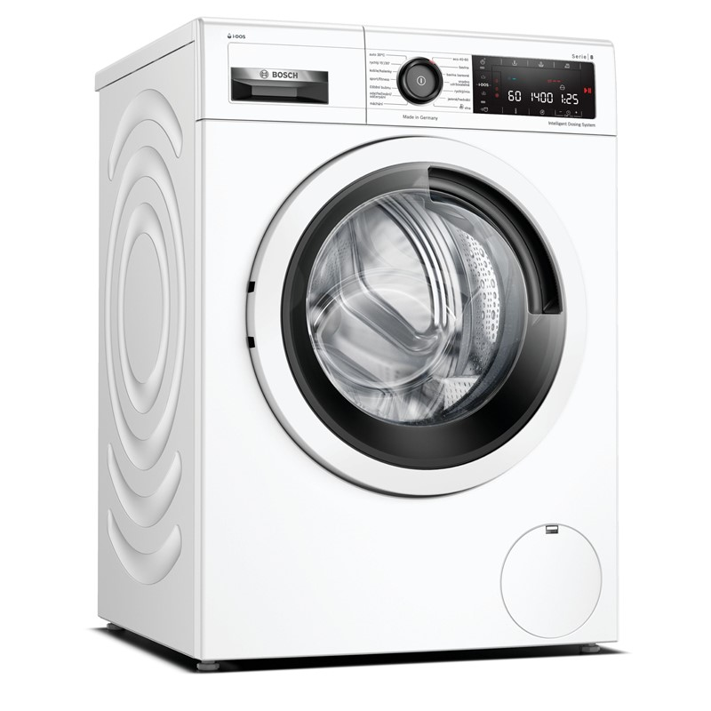 Pračka Bosch Serie | 8 WAV28K00CS bílá Demont.šrouby-Díry deska-Vráceno-Odřená dvířka