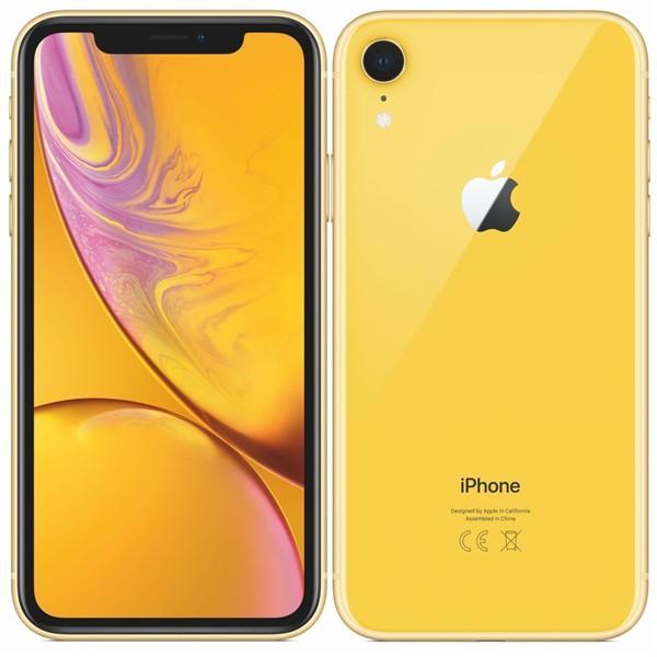 Mobilní telefon Apple iPhone XR 64 GB - yellow Vráceno ve 14ti denní lhůtě - kosmetické oděrky - chybí sluchátka