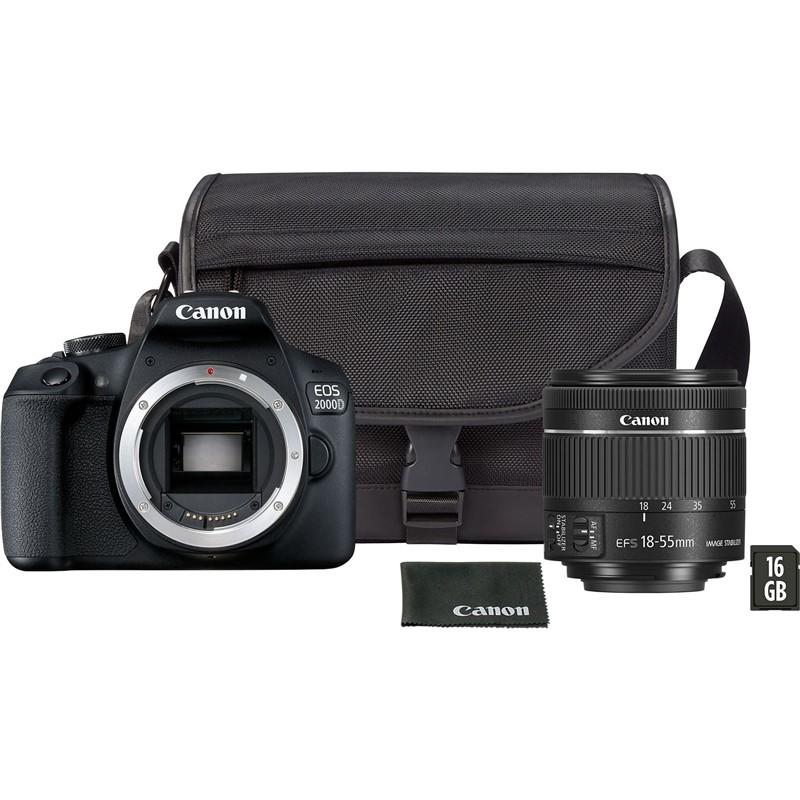 Digitální fotoaparát Canon EOS 2000D + 18-55 mm DC + VUK černý Vráceno ve 14ti denní lhůtě