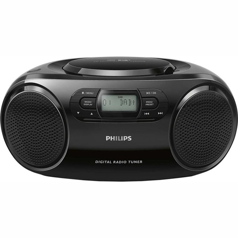 Radiopřijímač s CD Philips AZB500 černý Vráceno ve 14ti denní lhůtě - oděrky