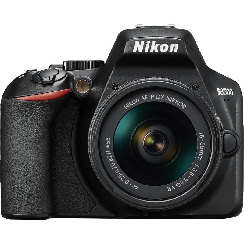 Digitální fotoaparát Nikon D3500 + 18-55 AF-P VR černý (VBA550K001) Vráceno ve 14ti denní lhůtě