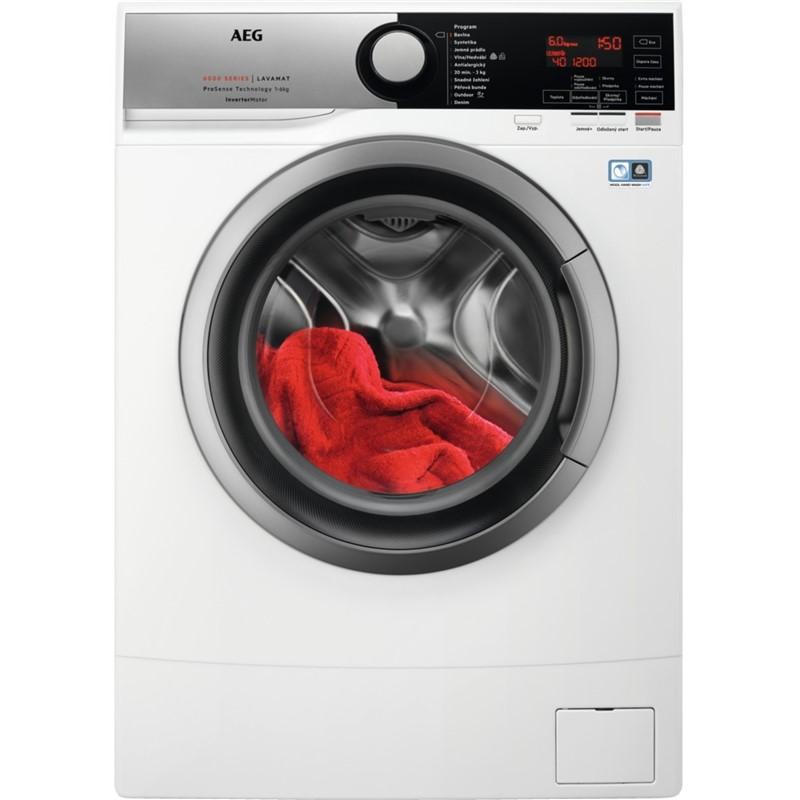 Pračka AEG ProSense™ L6SE26SC bílá nepoužito-poškozená horní deska - kosmetické oděrky