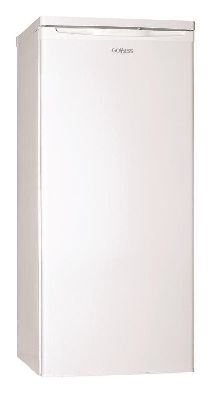 Chladnička Goddess RSD0124GW8F bílá nepoužito-na dvířkách promáčkliny-oděrka