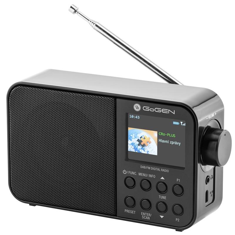 Radiopřijímač s DAB+ GoGEN DAB 500 BT C černý Poškozený obal - vystaveno