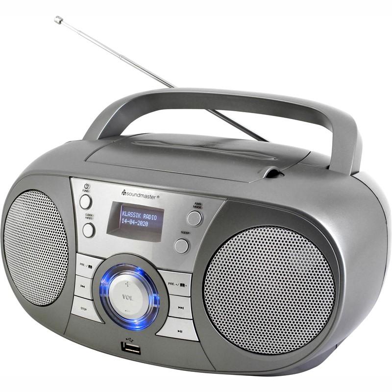 Radiopřijímač s DAB+ Soundmaster SCD1800TI šedý Vráceno ve 14ti denní lhůtě