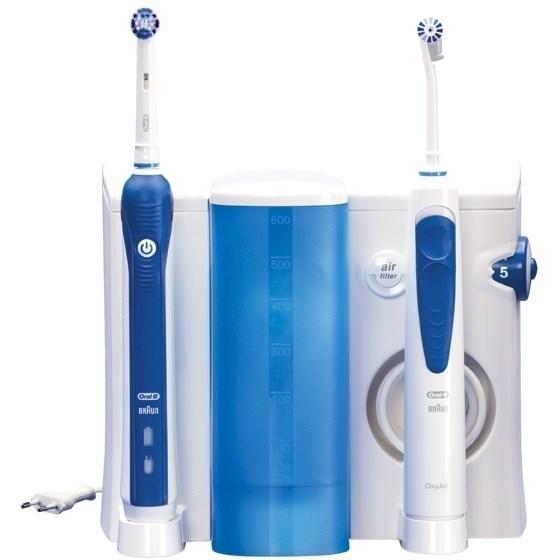 Orální centrum Oral-B Oral-B® ProfessionalCare™ Oxyjet+3000OC20 bílý/modrý nepoužito-rozbaleno-poškozená krabice-nástavce origi. zalisovány