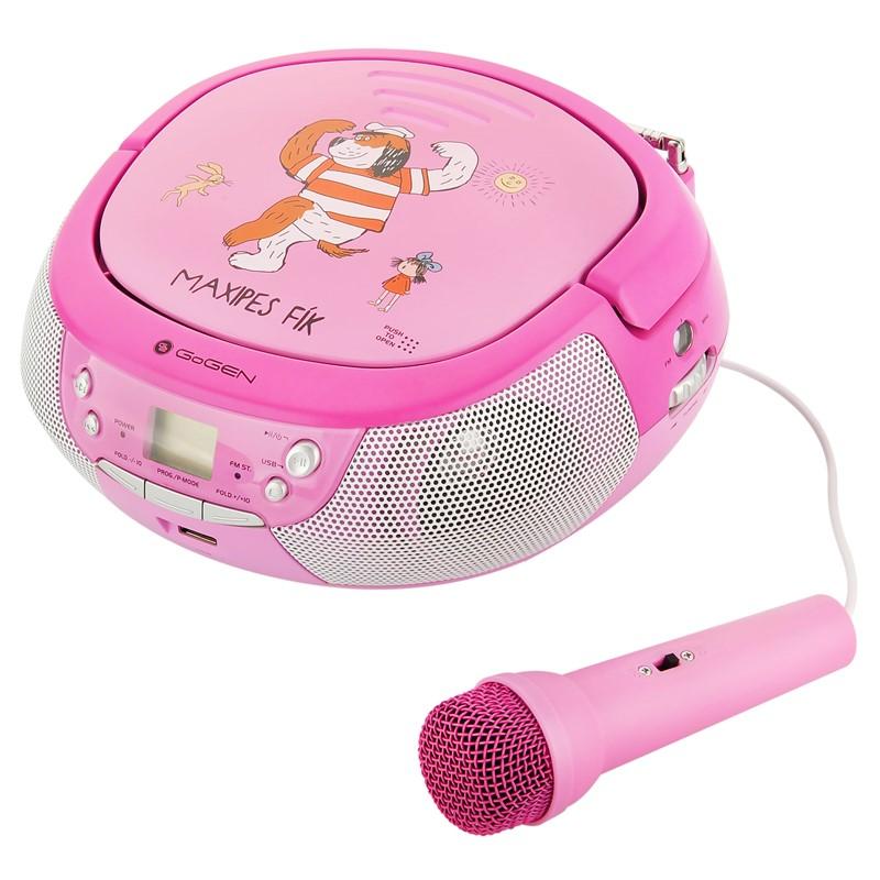 Radiopřijímač s CD GoGEN Maxipes Fík MAXIPREHRAVAC P růžový/fialový Vráceno ve 14 ti denní lhůtě - Kosmetické oděrky - Poškozený obal