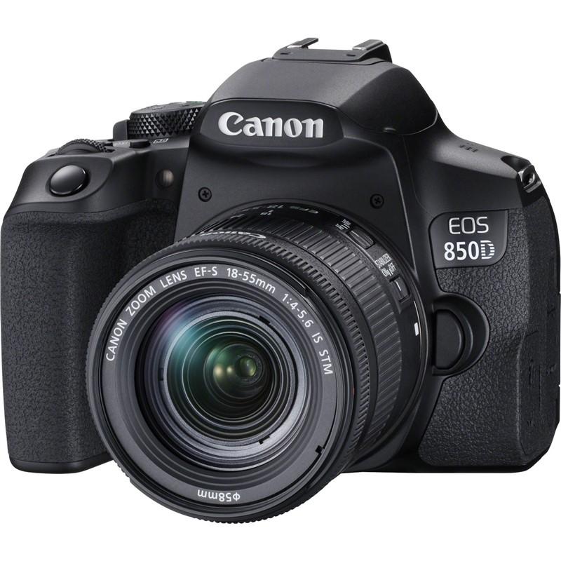 Digitální fotoaparát Canon EOS 850D + 18-55 IS STM černý Vráceno ve 14ti denní lhůtě