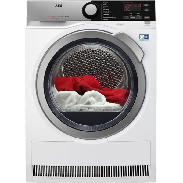 Sušička prádla AEG AbsoluteCare® T8DEE68SC bílá odzkoušeno - vráceno - pravý bok promáčkliny