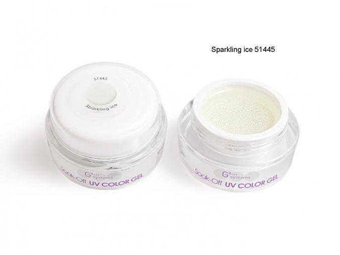 UV Soak off color gel barevný gel, Sparkling ice
