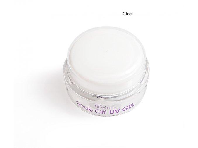 UV Soak off gel clear gel čirý, Francouzská manikúra