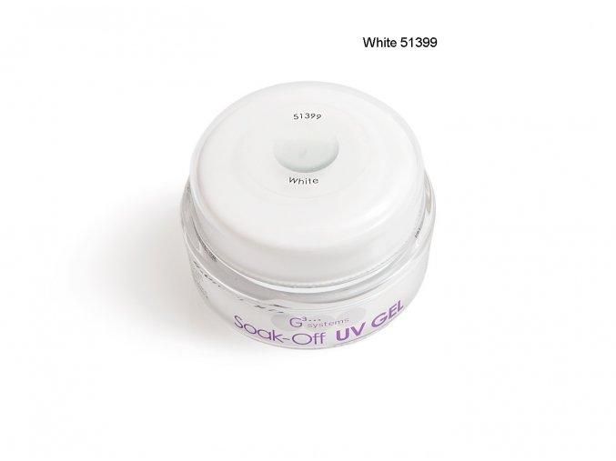 UV Soak off gel white gel bílý, Francouzská manikúra