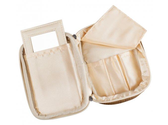 Kosmetická kabelka Zlatá nylon č. 2, DOPRODEJ