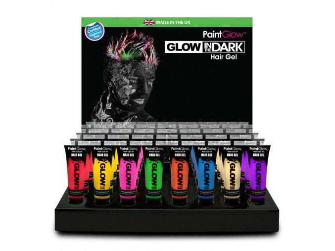 Glow Dark Hair Gel CDU Full preview