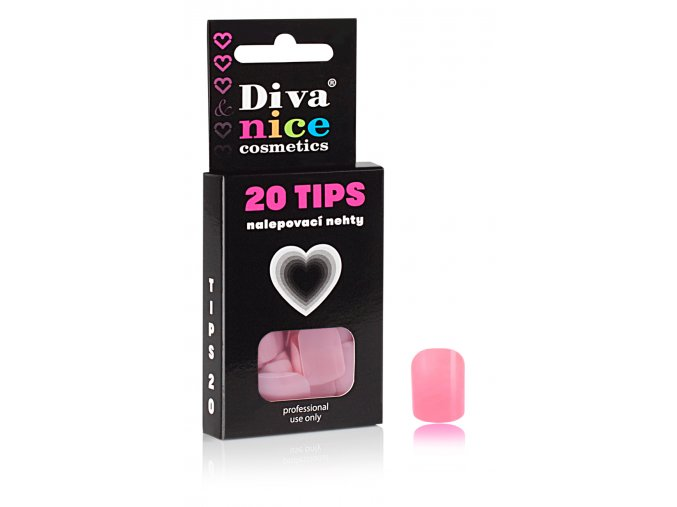 Nalepovací nehty TIPS 20 NEW barevné č. 7