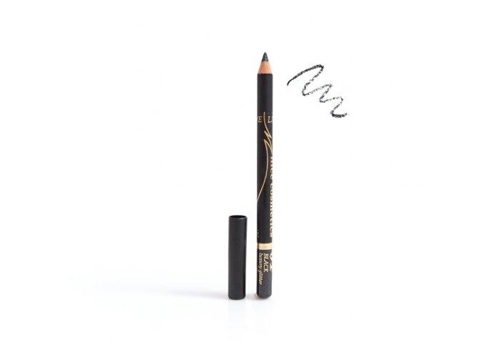 Konturovací tužka na oči Nice cosmetics s glitrem 01 BLACK