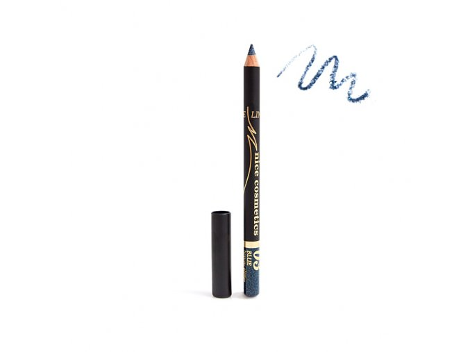 Konturovací tužka na oči Nice cosmetics s glitrem 03 BLUE