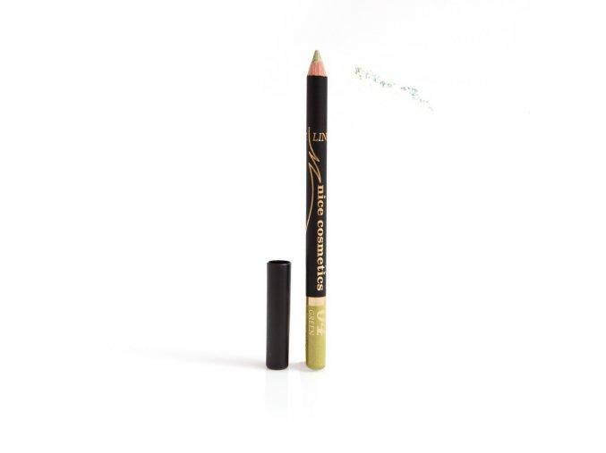 Konturovací tužka na oči Nice cosmetics s glitrem 04 GREEN