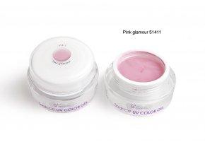 UV Soak off color gel barevný gel, Pink glamour