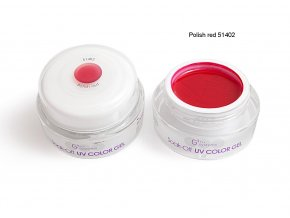 UV Soak off color gel barevný gel, Polish red