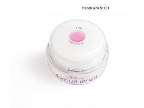UV Soak off gel French pink francouzská růžová, Francouzská manikúra