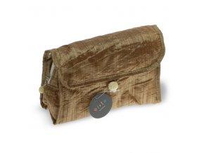 Kosmetická kabelka Zlatá nylon č. 1, DOPRODEJ