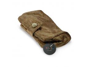 Kosmetická kabelka Zlatá nylon č. 4, DOPRODEJ