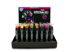 UV Neon Glow Me Up Paint Stick CDU Full preview