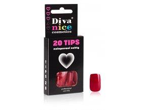 Nalepovací nehty Tips 20 burgundy