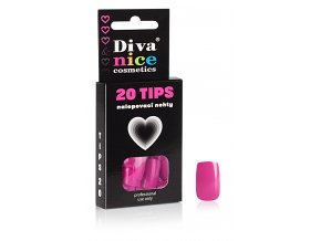 Nalepovací nehty Tips 20 magenta