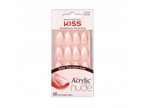 KAN06C Kiss SalonAcrylicFrenchNude Package Front 731509709094