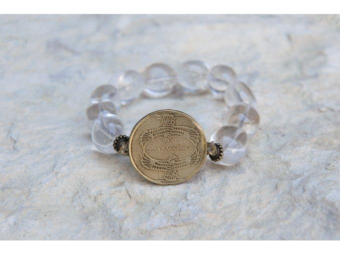 Náramek s amuletem Dva supi - Křišťál