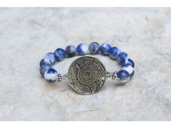 Náramek s amuletem Had ze Súz - Sodalit