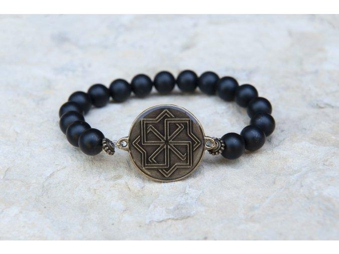 Náramek s amuletem Molviněc - Šungit