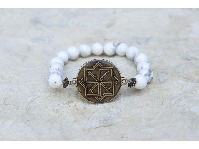 Náramek s amuletem Molviněc - Magnezit