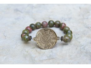 Náramek s amuletem Had ze Súz - Unakit