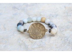 Náramek s amuletem Had ze Súz - Amazonit