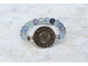 Náramek s amuletem Spojení tří světů - Fluorit