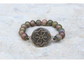 Náramek s amuletem Molviněc - Unakit